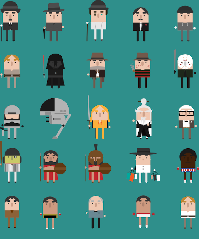 Can you recognize all the movies in this cute animation about film?