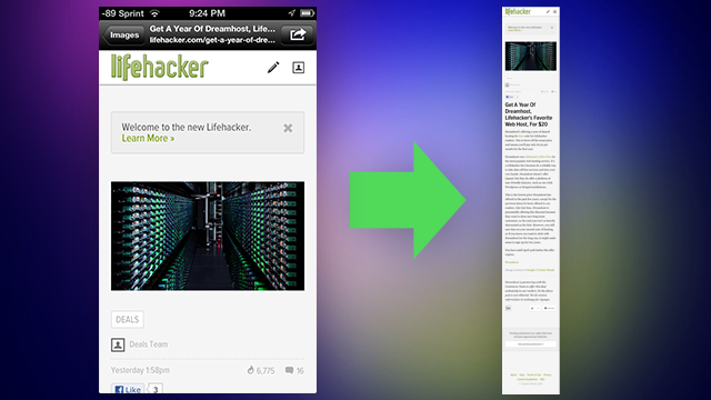 Barry Takes Full-Length Webpage Screenshots on iOS