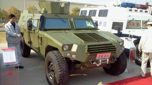 China's armored Hummer clone gets a turret