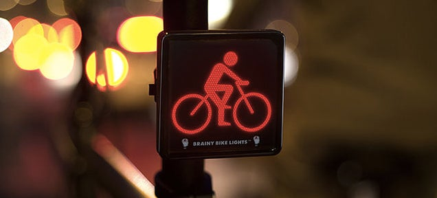 Symbolic Bike Lights Make Cyclists More Visible to Traffic