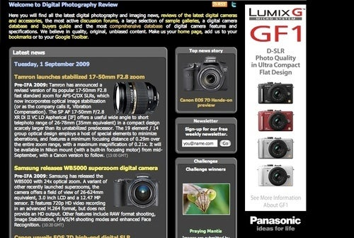Panasonic So Excited About Lumix GF1 Micro Four Thirds Camera They Show It a Little Early