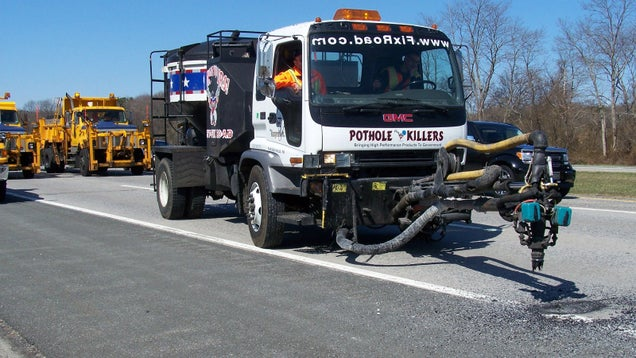 The Utility Truck Can Exterminate a Pothole Every 120 Seconds