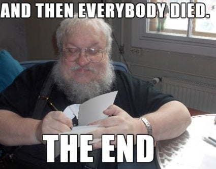 GRRM releases a new paragraph from Winds of Winter — wait, what?