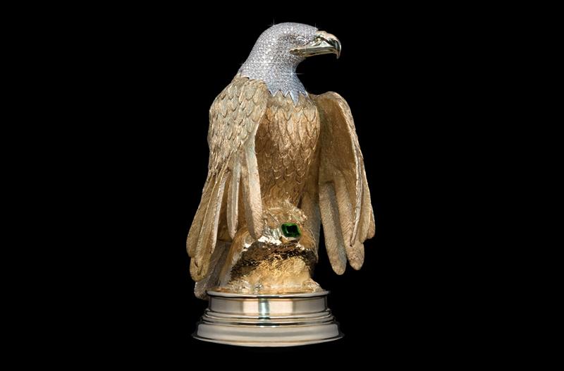 $5 Million Diamond-Encrusted Gold Eagle Reportedly Stolen En Route to Secret Vault