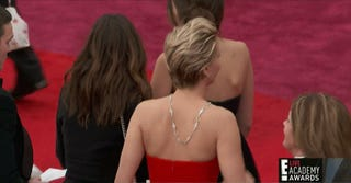 Jennifer Lawrence Trips and Falls on the Red Carpet