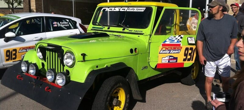This Vintage Jeep Races As A Rally Car
