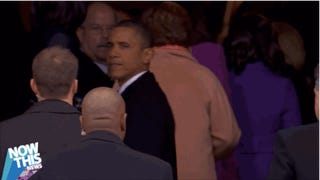 President Obama Bids Farewell to Inaugurations with Pensive Last Look at the Crowd: 'I'm Not Going to See This Again'
