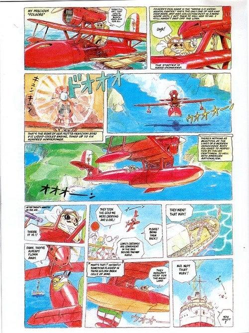 Pigs Fly (And Shoot Guns) In Rare Hayao Miyazaki Manga