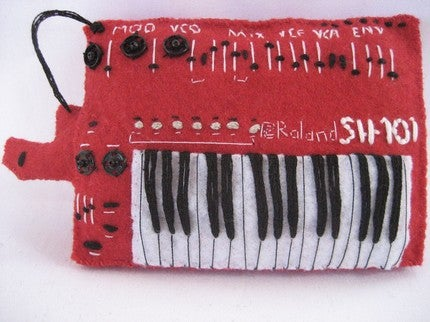 Miniature Synthesizer Replicas Cast in Felt Will Rock Your Tiny Mind