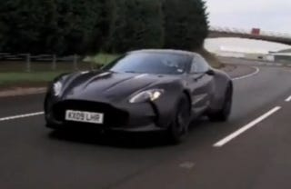 Aston Martin One-77 Testing To 80s Beat Track