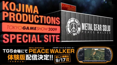 Metal Gear Solid: Peace Walker Will Be Playable At TGS
