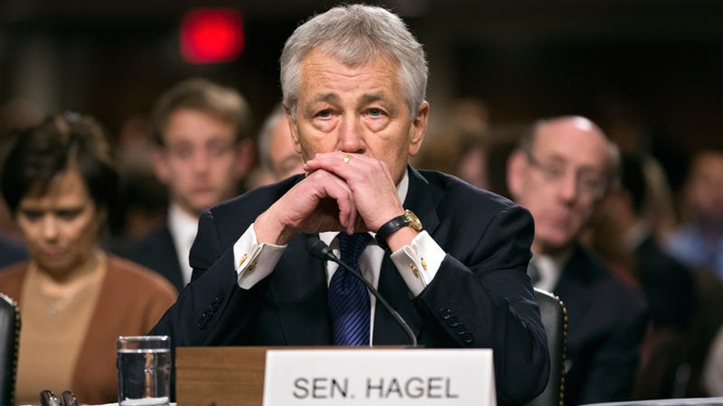 11 Photos of Chuck Hagel Blowing His Confirmation Hearing