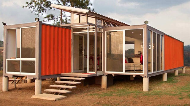 Discarded Storage Containers Make a Delightful House