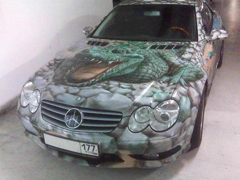 Alligator-Skinned Mercedes Isn't What You Think