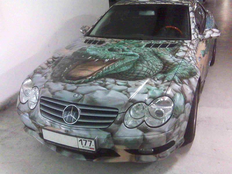 Alligator-Skinned Mercedes Isn't What You Think