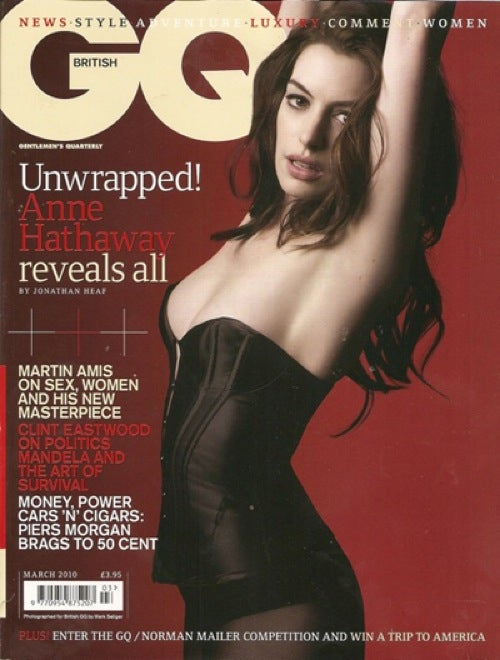 Anne Hathaway Loses Her Armpit On The Cover Of British GQ