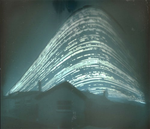 Solar Path Recorded By Pinhole Camera Over Six Months