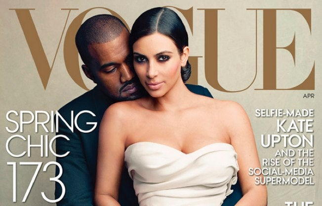 Here Are Kim, Kanye, and a Really Long Hashtag on the Cover of Vogue