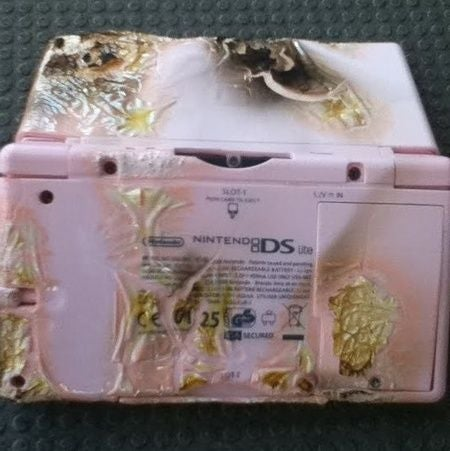 What Happens When a Stupid Person Burns a DS Lite?