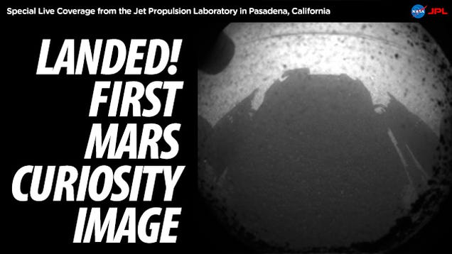 These Are the First Images from the Mars Curiosity Rover (Updated)