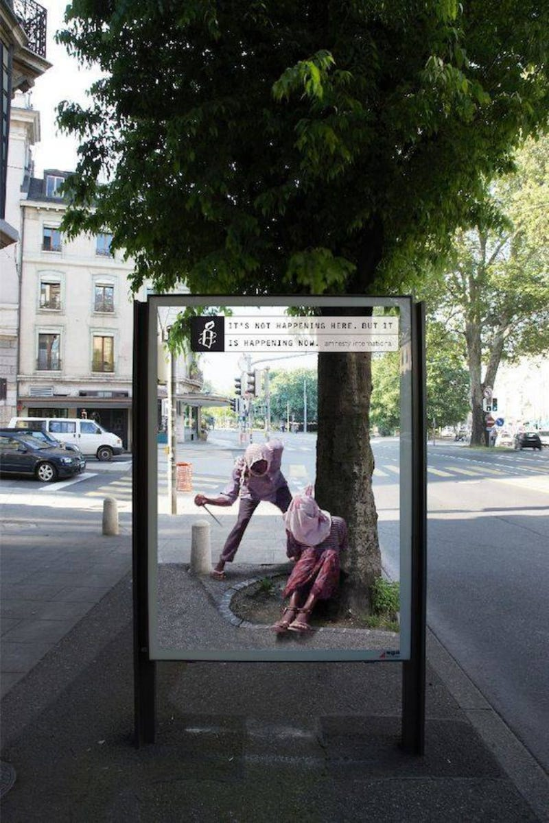Amnesty Ads Create a Portal into Real World Violence