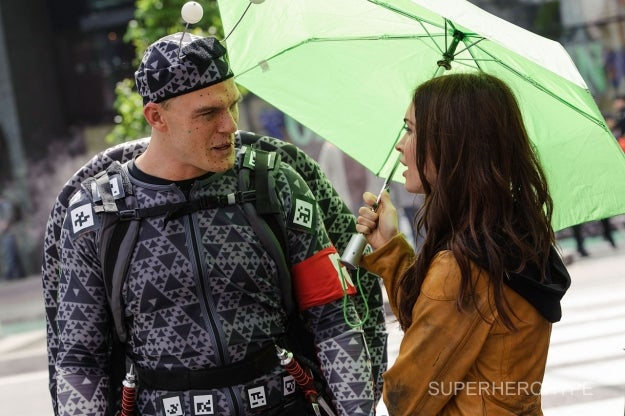 What is Megan Fox saying to Raphael's cold, dead mutant turtle eyes?