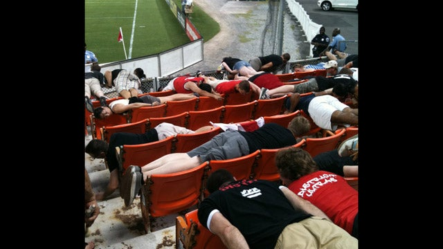 An Entire Section Of DC United Fans Planked At Last Night's Game