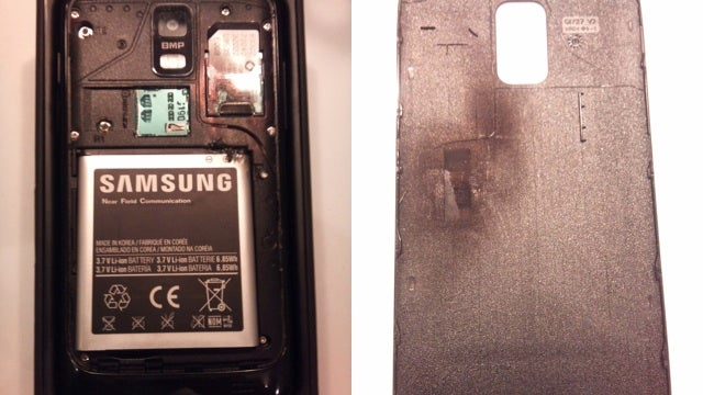 This Samsung Galaxy S II Started Burning In a Man's Pocket And Almost Blew His Nuts Off