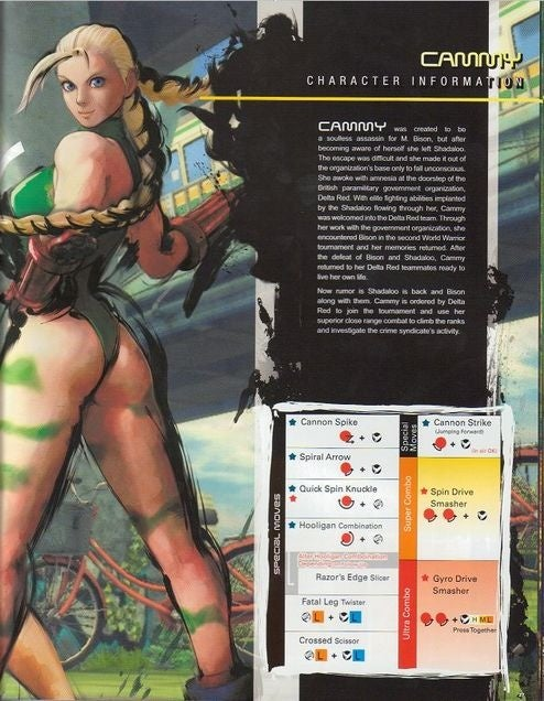Official Street Fighter IV Training Manual Packed with Cammy Junk, Seth Moves
