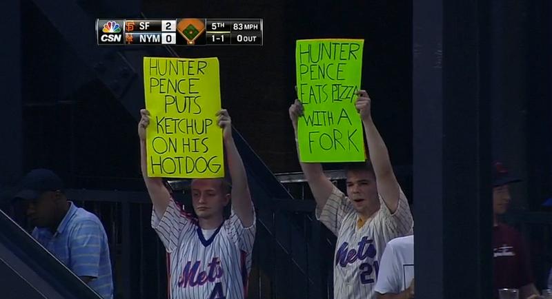 Mets Fans Drop Some Sick Burns On Hunter Pence