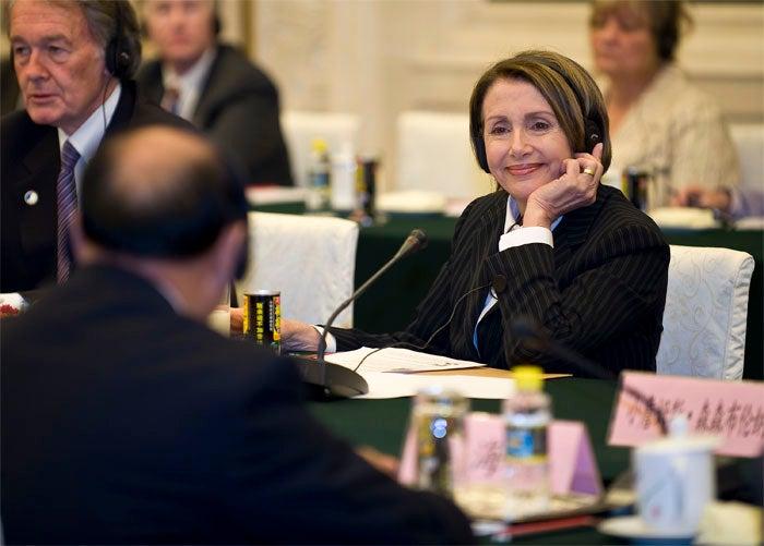 Democrat's Digit Looks Sorta Undiplomatic