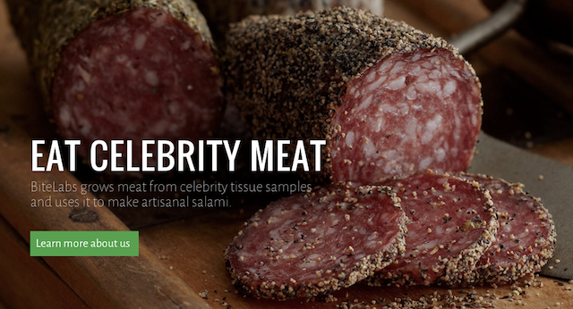 In a future of lab-grown food, could you eat meat made of celebrities?