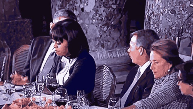 Watch Michelle Obama Throw World-Historical Shade at John Boehner