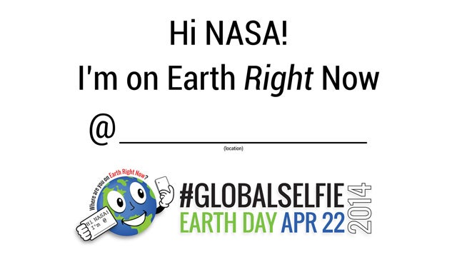 NASA Celebrates Earth Day With #GlobalSelfie Project