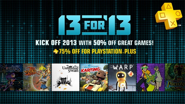 Sony Entertainment Network's 13 for '13 Sale Offers up to 75% Off PS3 Games