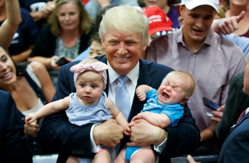 """Donald Trump: Media Lied, """"The Baby"""" Cried"""