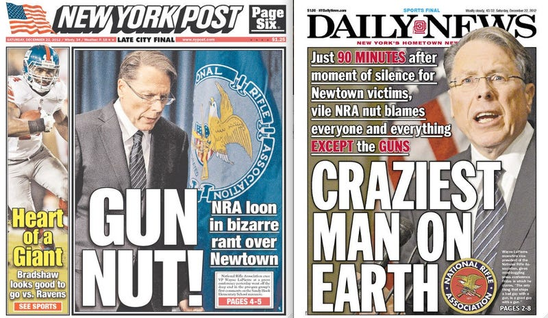 New York Newspapers Slam the Wacky NRA Vice President
