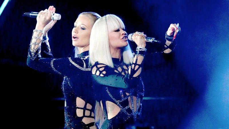 Watch Iggy Azalea and Rita Ora Slink Their Way Through 'Black Widow'