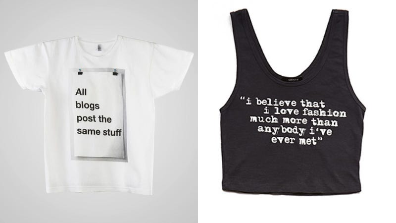 Fashion Would You Rather: Shameful Pseudo-Intellectual T-Shirt Edition