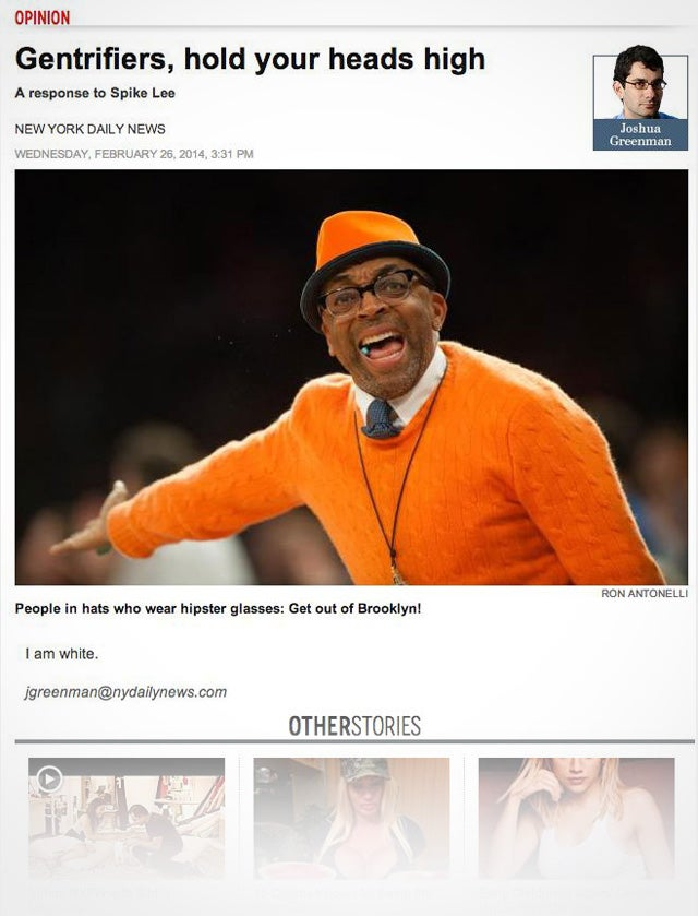 The New York Daily News' Response to Spike Lee, Edited