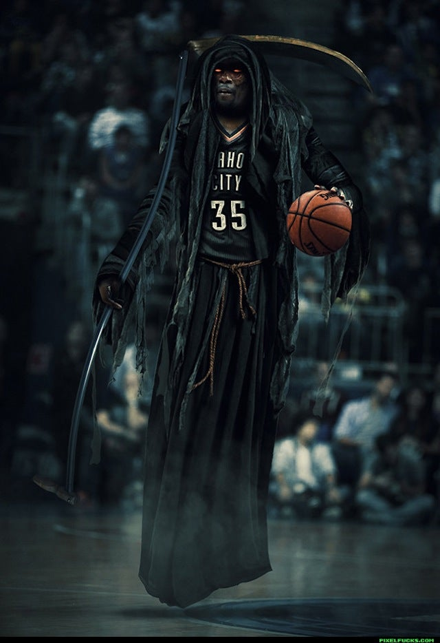 "Kevin Durant As The ""Slim Reaper"" Is Terrifying"