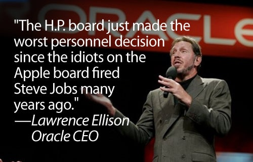 Oracle CEO Blasts HP Board For Ousting Mark Hurd