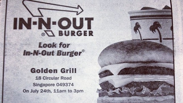 Singapore's In-N-Out Pop-Up Stand Ran Out of Burgers in Less Time Than It Takes to Eat One