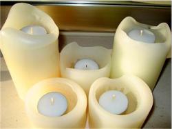 Make big candles last longer