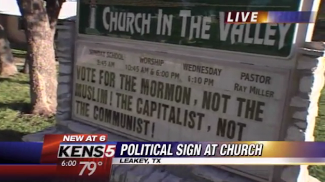 Texas Church Calling Obama a 'Muslim Communist' Could Have Its Tax-Exempt Status Revoked