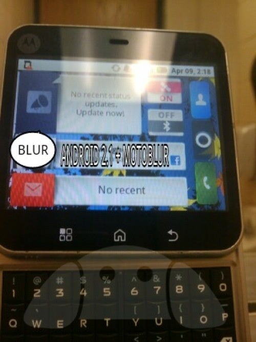 Dubious Leak Story Comes with Very Real Motoblur Handset Running Android 2.1