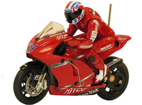 Silverlit RC Ducati Motorcycle Racer Leans Into Turns Around Your Furniture