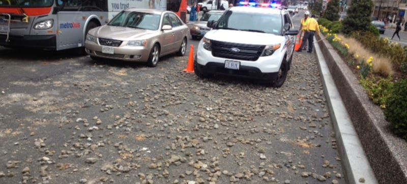 Gravel Truck Drops Contents, Creates Off-Road Hellscape In Downtown DC