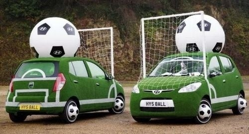 Today In Tacky World Cup Marketing: Hyundai's Soccer Car