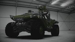 The Halo 4 Warthog will debut in Forza 4, but you can't drive it